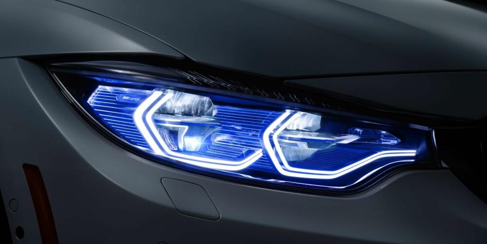 """LØSNER OPP: Et karakteristisk BMW-kjennetegn har vært runde lysringer i fronten. Nå har BMW """"tolket dette på nytt"""" sier de, og endt opp med en C og en C med hale. FOTO: BMW"""