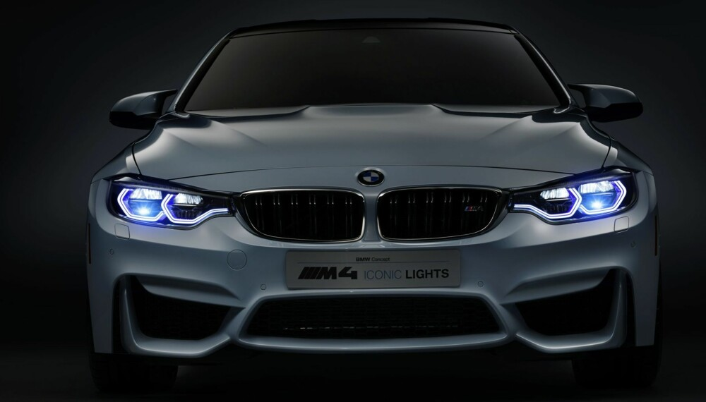 REKKER LANGT: Laserlysene lyser opp inntil 600 meter framover. Det er over dobbelt så langt som andre typer lys, som LED og xenon. FOTO: BMW