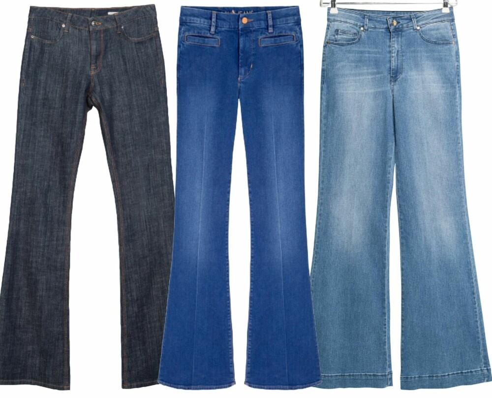 SLENG DEG PÅ: Fra venstre: Zara, kr 599. MIH, kr 1999. Mango, kr 399.