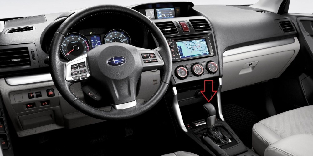 DIESEL OG AUTOMAT: Forester med automatgir. FOTO: Subaru