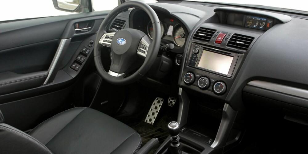 DIESEL OG MANUELT GIR: Subaru Forester har manglet komboen diesel og automatgir. FOTO: Petter Handeland