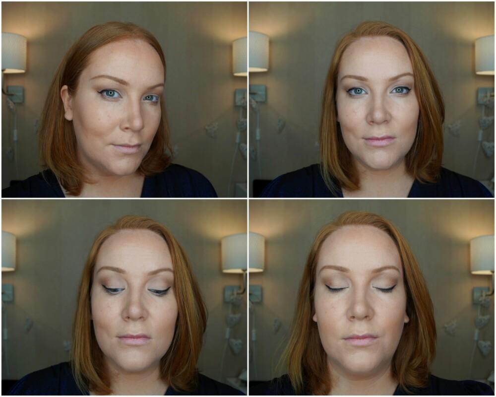 PERFEKT EYELINER: En fin måte å teste om eyelineren er lagt korrekt er ved å legge hodet bakover og se ned. Da skal linerene se flate og jevne ut.