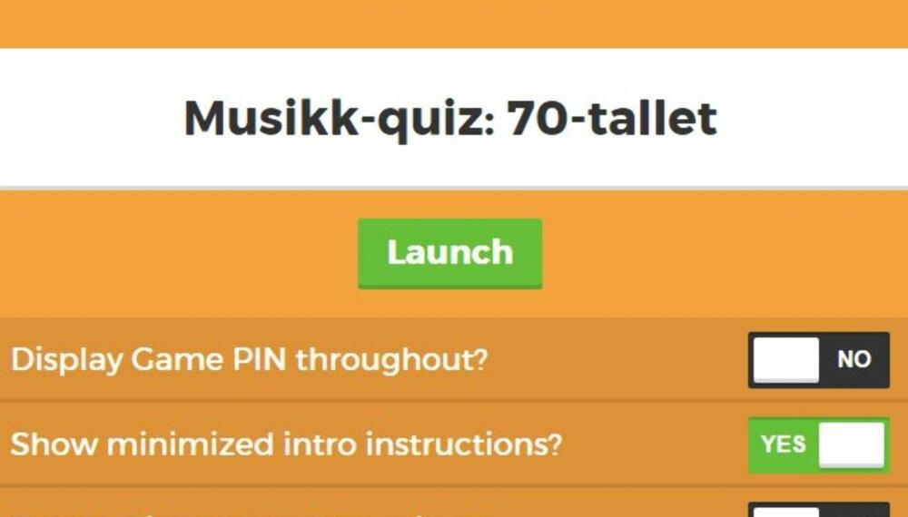 Lage Quiz På Kahoot