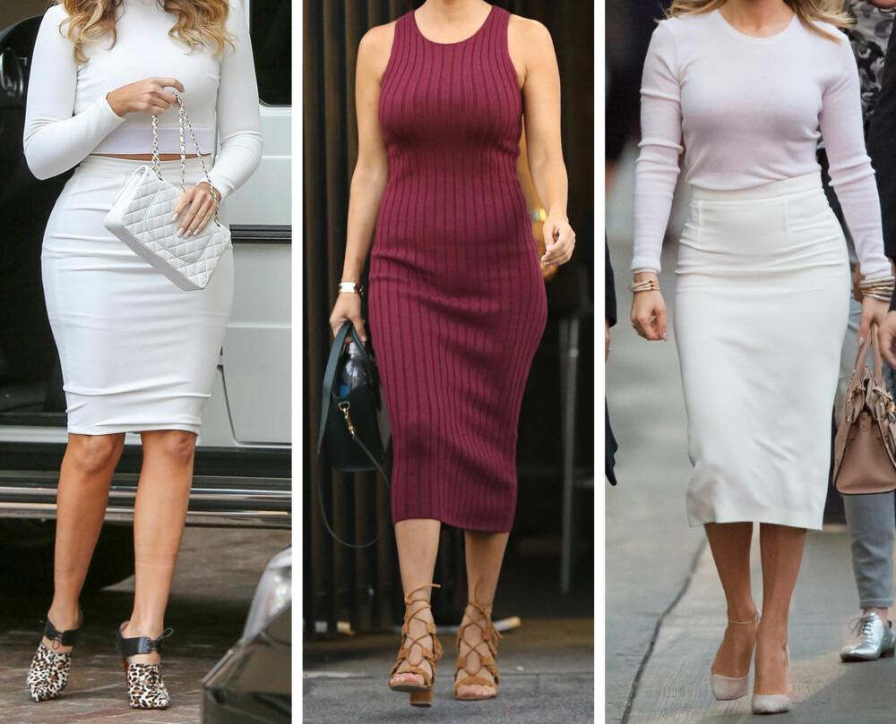 SENSUELL: Den sensuelle kvinnen bærer nærsittende plagg som viser fram de feminine kroppsformene på en sofistikert og sexy måte, og kler seg gjerne i kjoler og skjørt. De presser ofte grenser og provosere med klær. Eksempel: Beyonce og Jennifer Lopez.