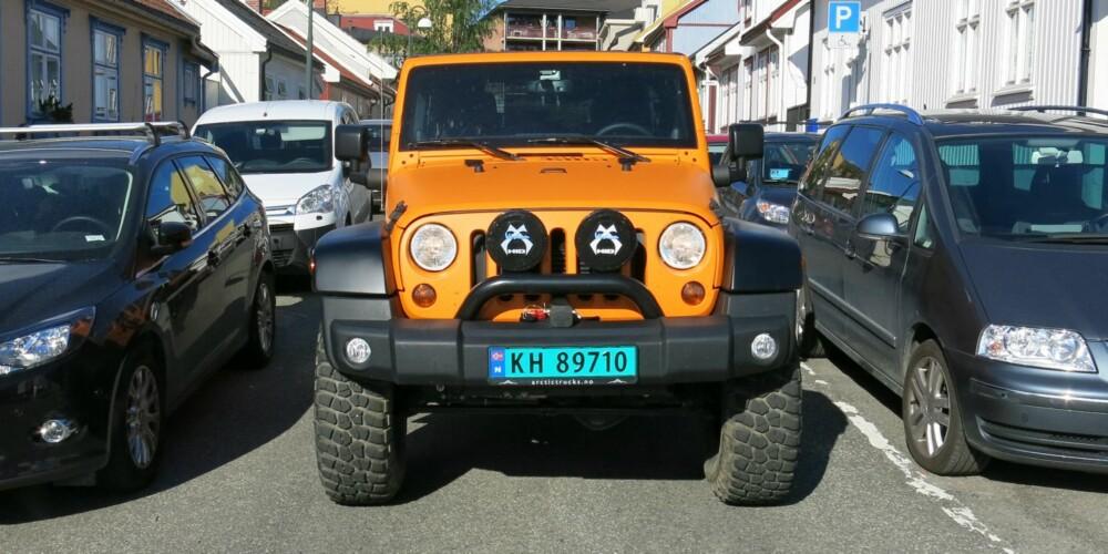 FARGERIK: Jeep Wrangler AT 37 gir farge til omgivelsene. FOTO: Martin Jansen
