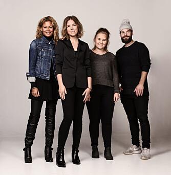 TEAMET (f.v.): Stylist Nadine Monroe, Kamille-modell Nina, frisør og makeupstylist Christine Mellem, samt fotograf Lars Evanger.