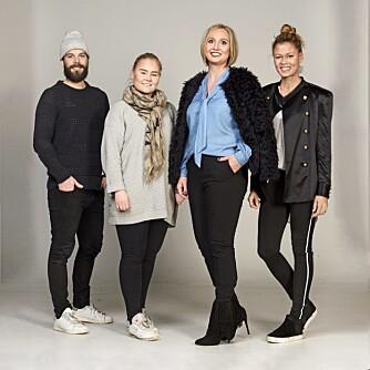 MAKEOVER-TEAM (f.v.): Fotograf Lars Evanger, frisør og makeupstylist Christine Mellem, modell Mette og stylist Nadine Monroe.