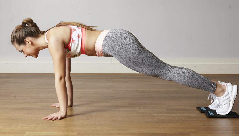 CATSLIDE: – Disse øvelsene er effektive og ikke minst morsomme å gjennomføre. Du kan skli i nesten alle mulige vinkler og få god effekt, sier Christina Therkildsen, grunnlegger av treningskonseptet Catslide.