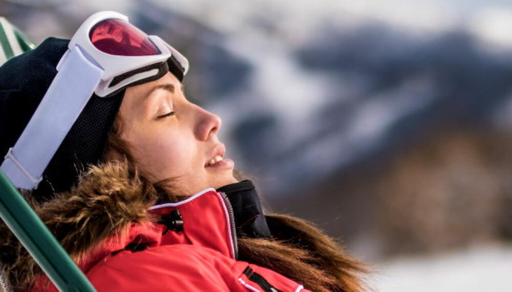 PÅSKESOL: Hvis du har tenkt deg på fjellet i påsken, må du for all del ikke glemme solkrem!