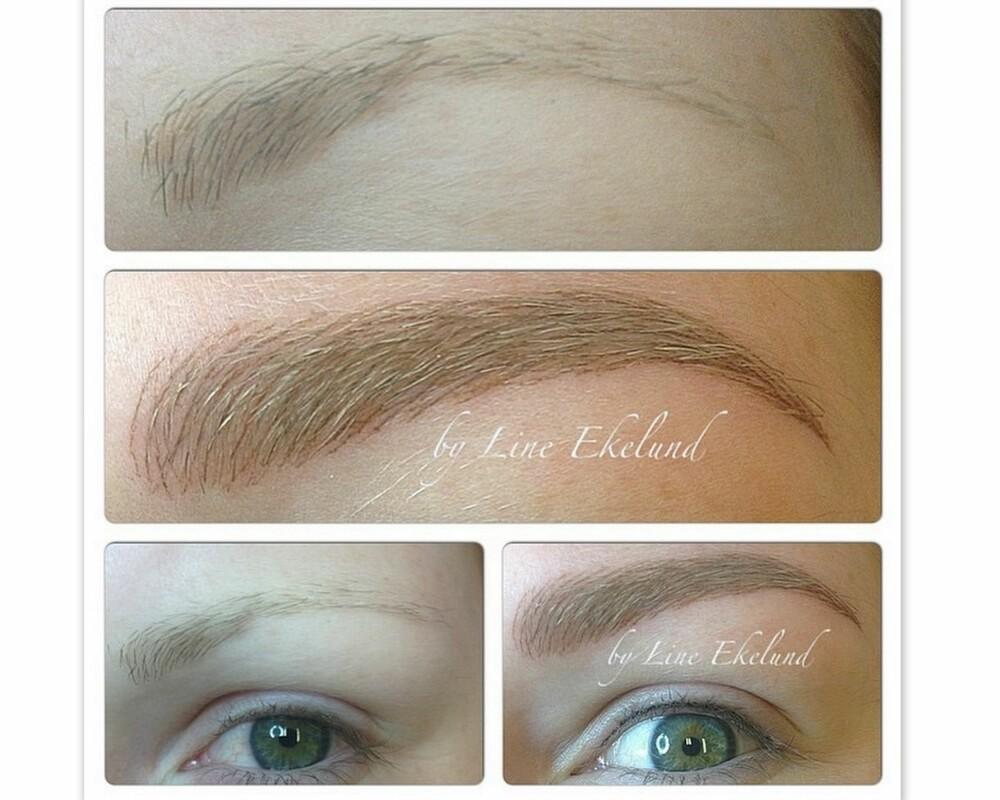 PERMANENT MAKEUP: Ifølge Line Ekelund kan en dyktig behandler skape et naturlig resultat med permanent makeup også.