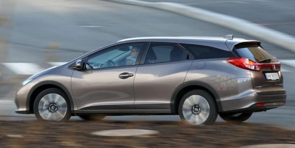 SMART KJØP: Skal du ha dieseldrevet stasjonsvogn i prisområdet 300.000 kroner, bør Honda Civic Tourer stå på sjekklista.