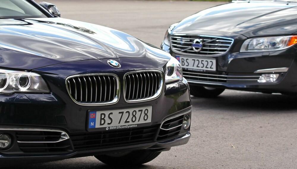 Volvo V70 D3 vs. BMW 518dat SML test august 2013