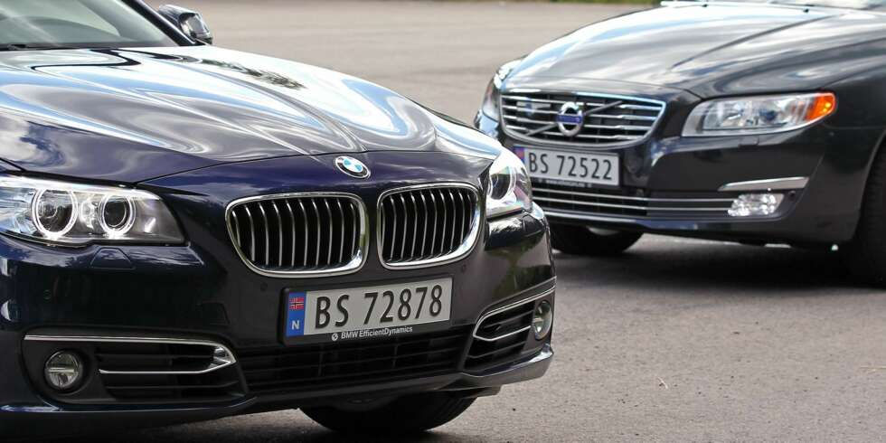 Volvo V70 D3 vs. BMW 518dat SML test august 2013