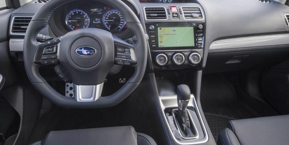 OUTBCAK: Interiøret i Levorg minner veldig om den større Outback. FOTO: Subaru