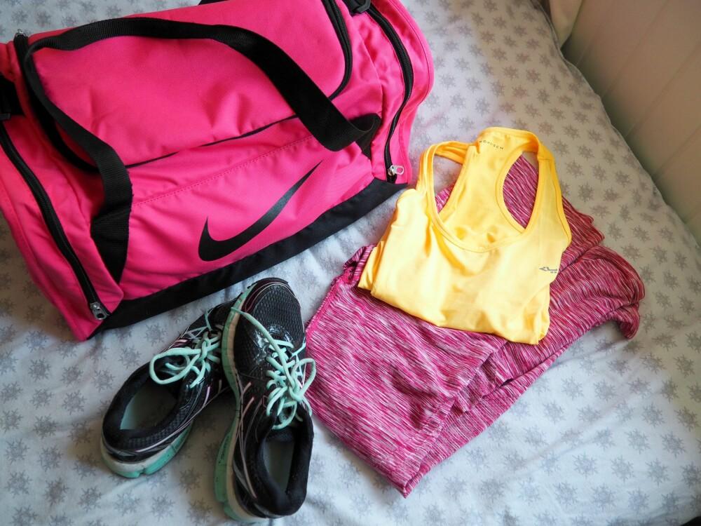 TRENINGSGLEDE: Fargerikt treningstøy gjør det litt mer fristende å dra på trening etter en lang dag.