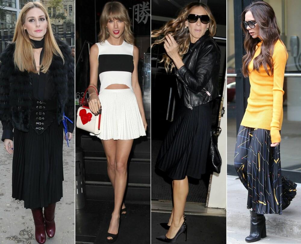 KJENDISFAVORITT: Stjerner som Olivia Palermo, Taylor Swift, Sarah Jessica Parker og Victoria Beckham er alle fans av bestermorskjørtet.