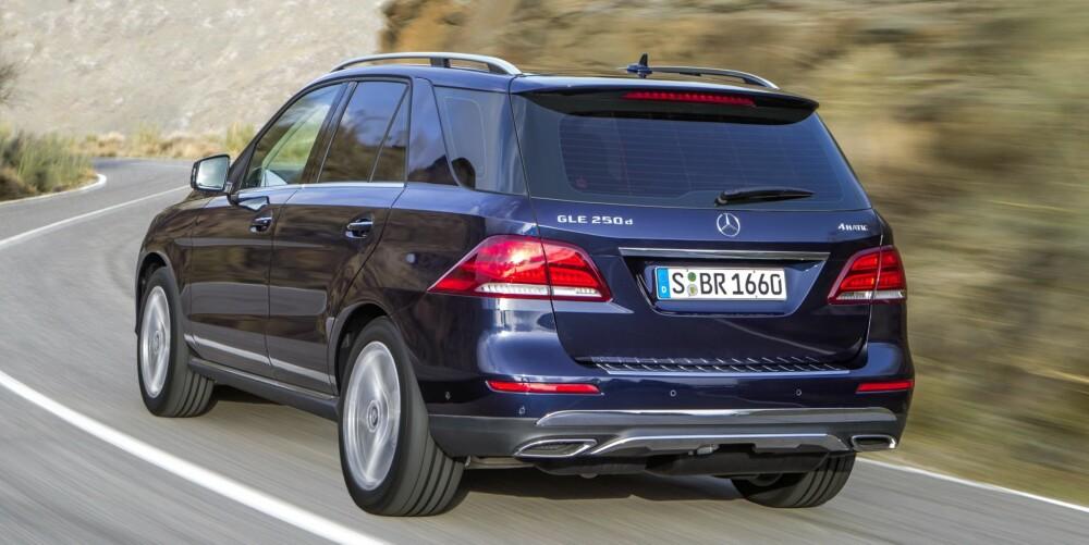 SUV: Mercedes GLE 250d koster fra 789 000 kroner. FOTO: Daimler AG