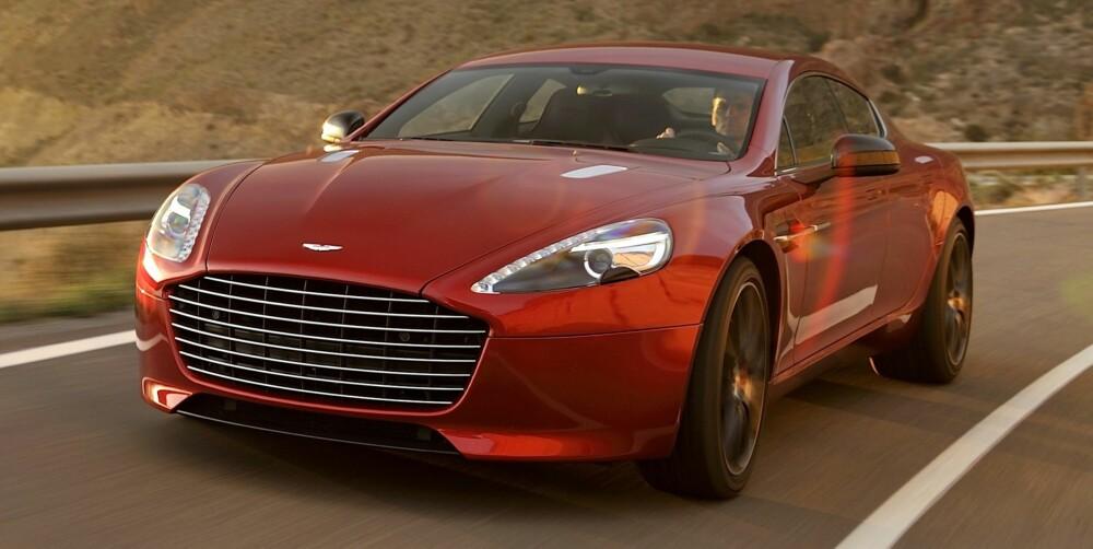 ELBIL: Aston Martin skal lansere en helt elektrisk versjon av Rapide med 800 hk. FOTO: Newspress