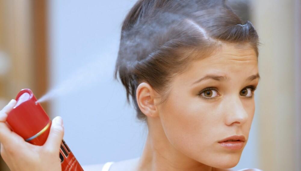 BRUKES OFTE FEIL: Tørrsjampo er et av de hårproduktene som veldig mange bruker feil.
