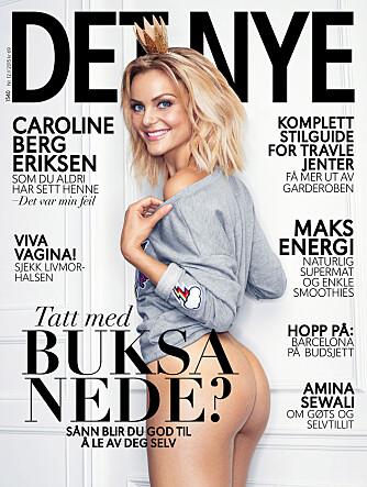 PÅ COVER: Caroline Berg Eriksen på Det Nyes siste forside.