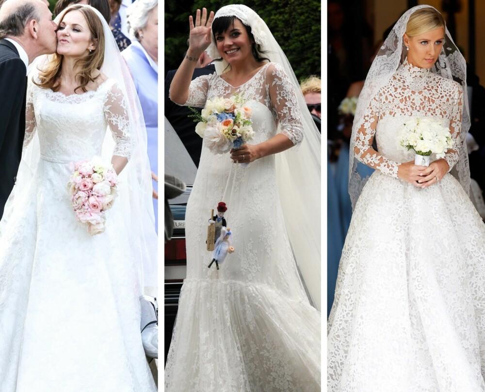 BLONDEERMER: Også tidligere Spice Girl Geri Halliwell, artist Lily Allen og sosietetskvinne Nicky Hilton har giftet seg med blondeermer. Halliwell og Hilton nå i år.