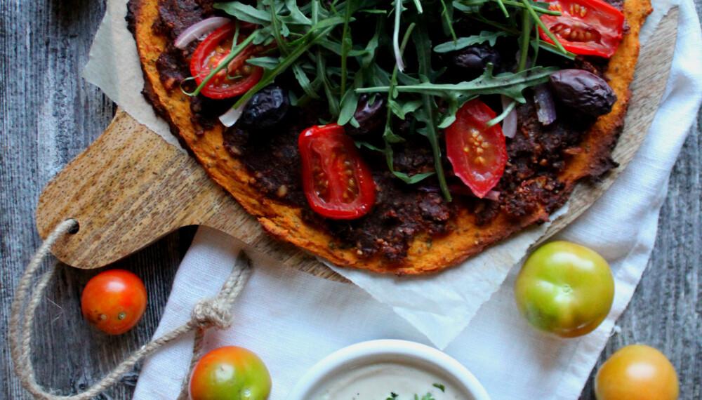SØTPOTETPIZZA: En sunnere pizza som garantert kommer til å bli en ny favoritt!