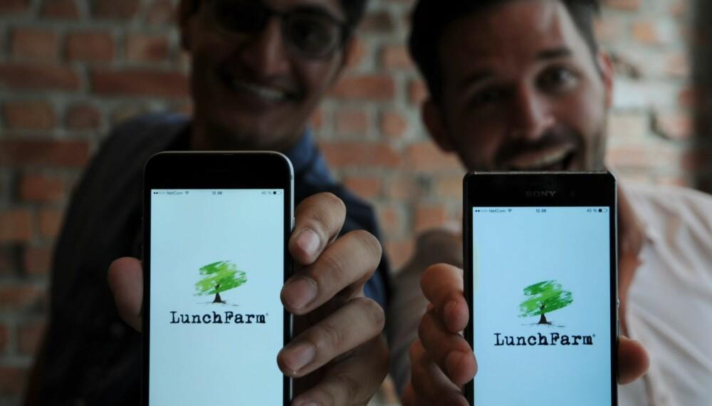 GOD APETITT: LunchFarm har i september lansert det som er Norges første app-baserte lunsj-tjeneste.