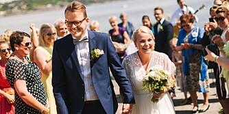 NYGIFT: Camilla og Carl Thomas giftet seg 01. juni 2013, og delte sin store dag og forberedelsene med magasinet Ditt Bryllup.