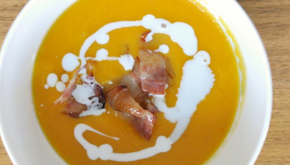 SØTPOTET: Glad i søtpotet? Lag en deilig og varm suppe i høst med søtpot og gulerot.
