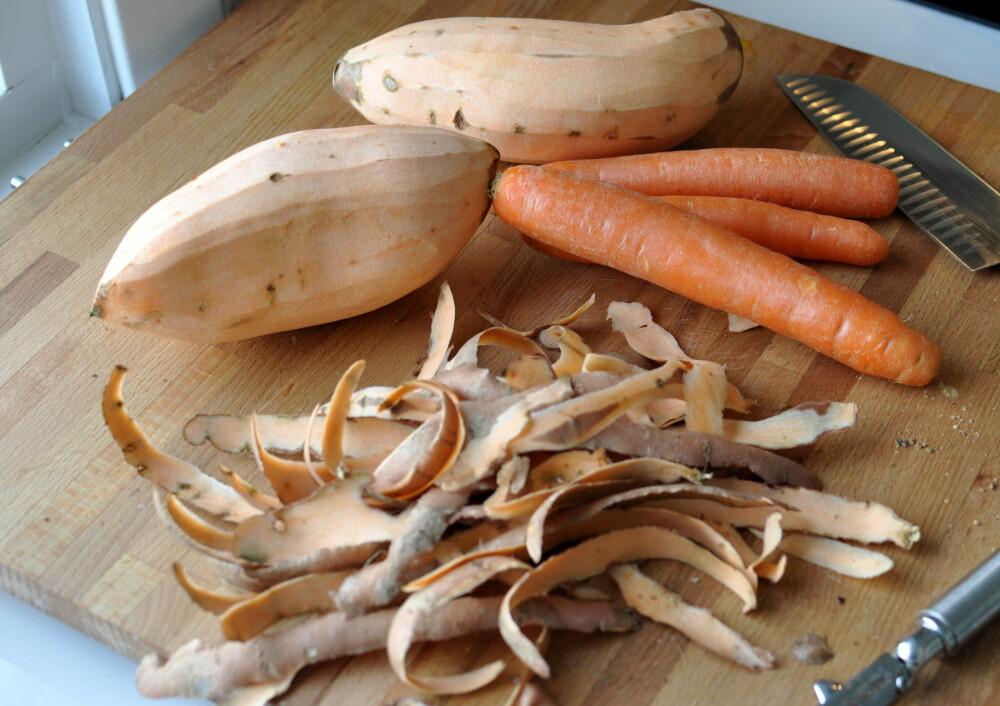 SUNT OG GODT: Søtpoteter og gulrøtter gir suppa en deilig smak.