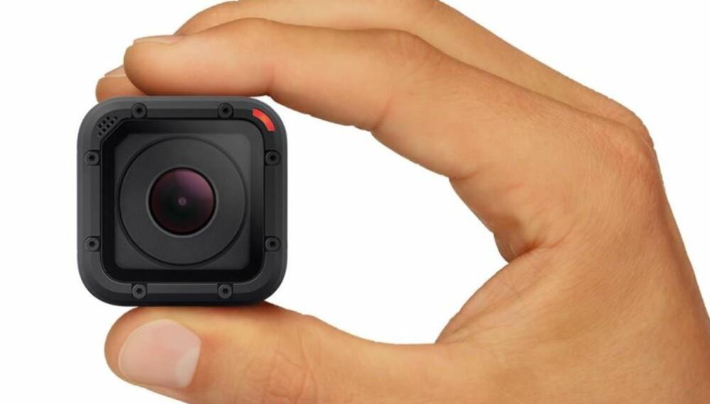 KNØTTLITE: GoPro Hero4 Session er mye mindre enn tidligere kameraer fra GoPro.