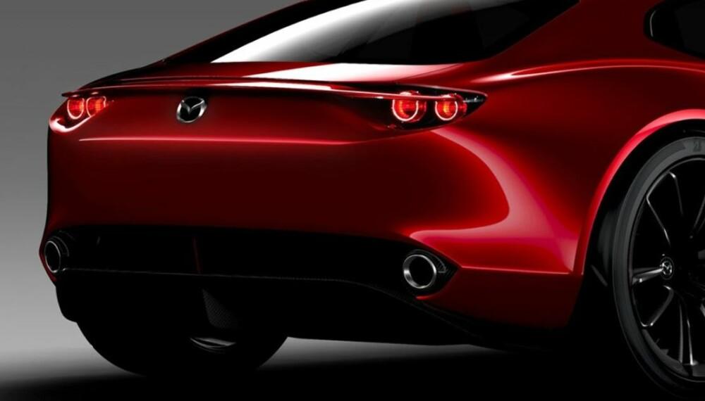 RX7-ARVTAGER: Mens RX-8, som var den siste wankelmodellen, hadde fire dører og GT-preg, kan denne modellen bli en todørs sportsbil. Foto: Mazda
