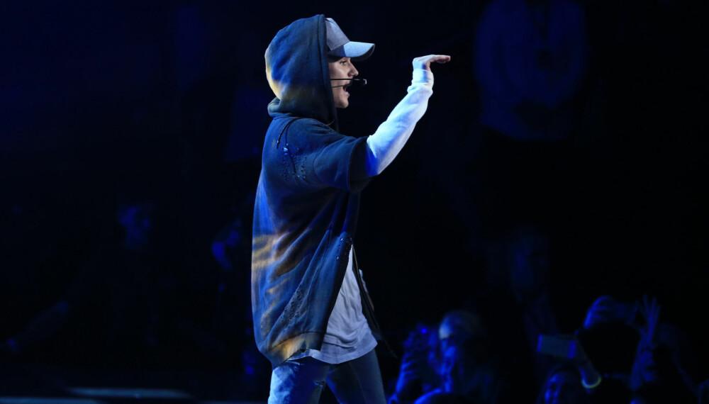 Justin Bieber på scenen i Oslo.