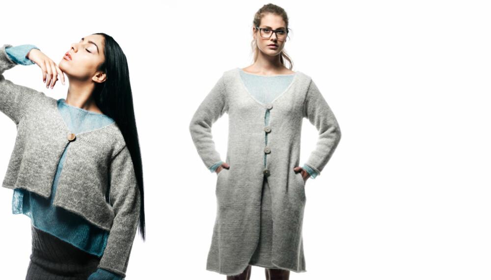 KORT ELLER LANG: Her får du en oppskrift på to jakker