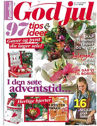 GOD JUL 2014: Send sms GODJUL 2014 for å kjøpe bladet. Du blir belastet kr 69,- på telefonregningen og får bladet tilsendt.