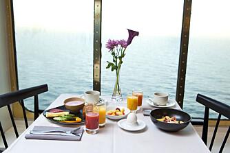 FROKOST: Restaurantene om bord byr på deilig mat.
