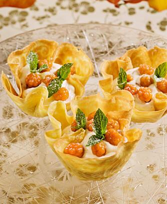 MESTERKOKKENS KRUMKAKER: Få Bent Stiansens beste tips til hvordan du lager de beste krumkakene med multekrem.