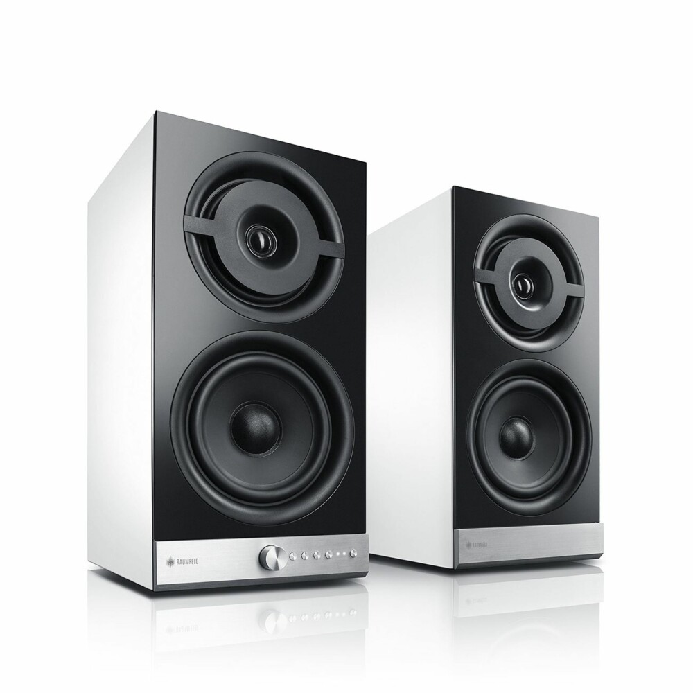 HI-FI: Stereo M ser ut som et helt tradisjonelt høyttaler-par, med unntak av knappene i front.