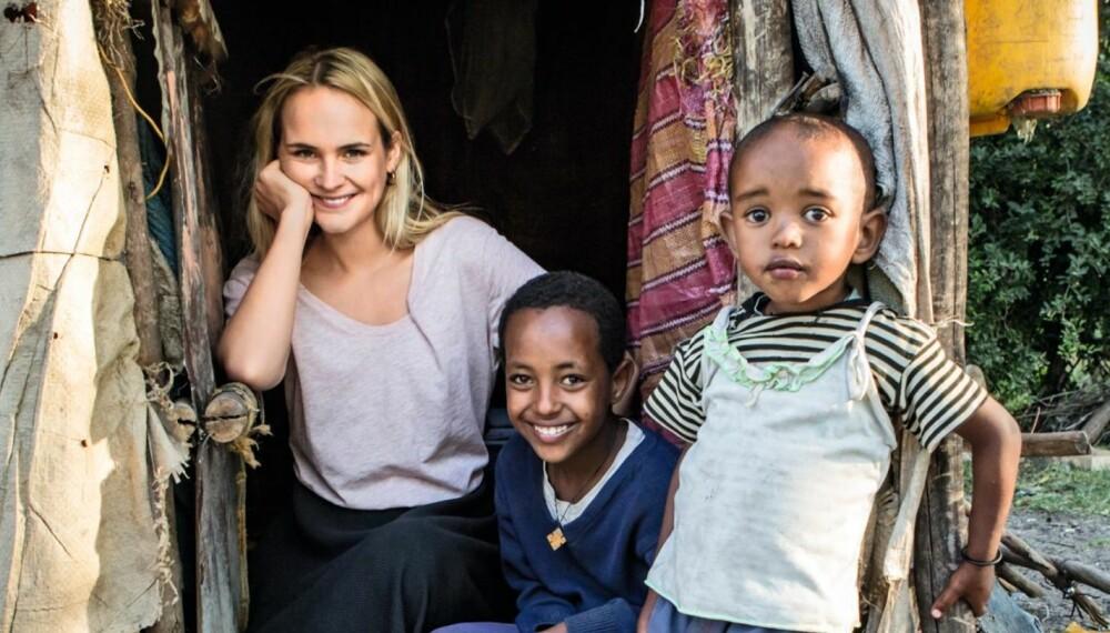 ETIOPIA-TUR: Linnéa Myhre fikk møte Abel (11) og lillebror Lulseged (3) som bodde i slummen. Det gjorde noe med henne som menneske.