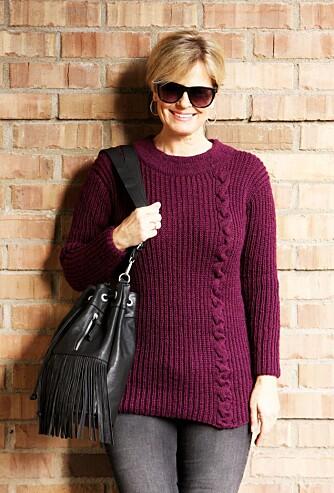 GENSEREN I SIN HELHET: Slik ser genseren ut ferdig strikket.