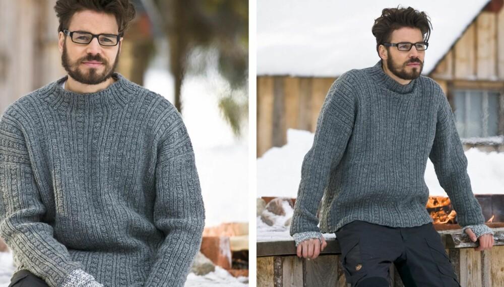 ULLGENSER: Hvorfor ikke la denne genseren i strukturmønster bli vinterens strikkeprosjekt?