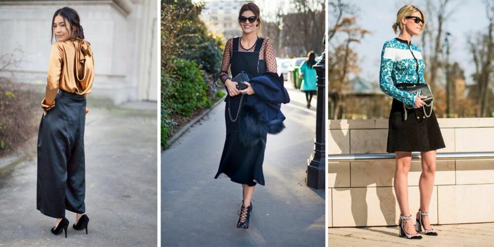 HØYE HOTTE HÆLER: Gjør som stilikonene, og la skoene gjøre mye av jobben.