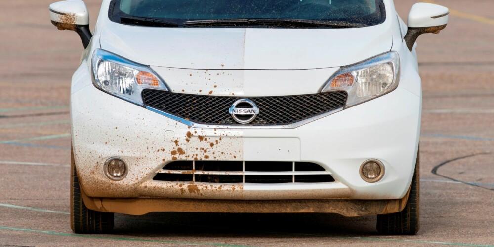 NANO: Nissan har startet testing av en ny lakkteknologi. Dette betyr at du kanskje aldri behøver å vaske bilen din igjen, eller i hvert fall mye sjeldnere, ifølge Nissan.