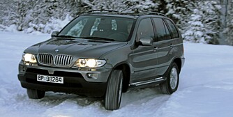 TAR SEG FREM: Også den første BMW X5 hadde et avansert 4WD-system med gode vinteregenskaper.