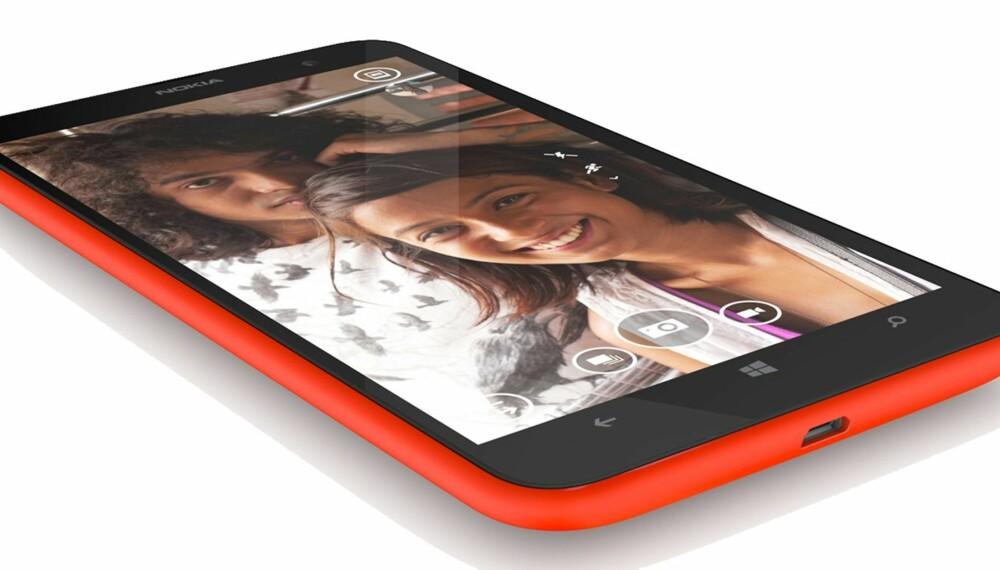 FARGERIK: Nokia Lumia 1320 får du i flere typiske Nokia-farger som rød, gul, sort og hvit.
