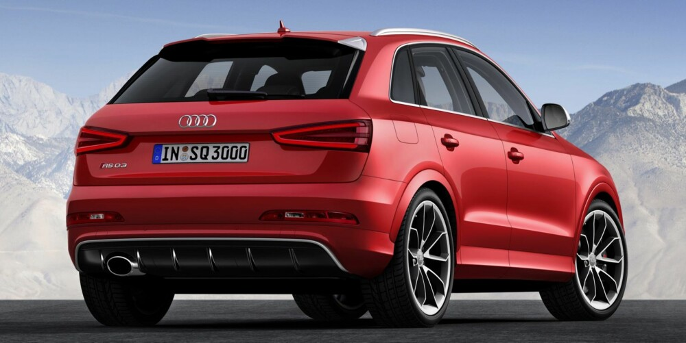 RASKERE: RS-versjonen av Q3 blir den fjerde RS-modellen Audi lanserer i 2013. FOTO: Audi