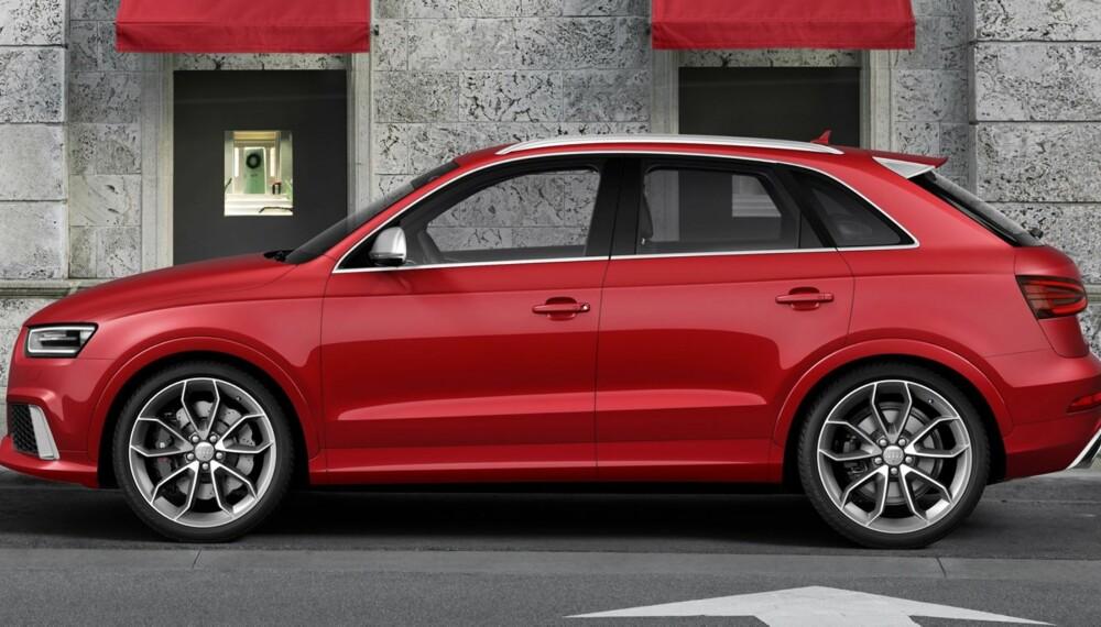 RASK: Audi RS Q3 blir blant de aller raskeste kompakt-SUV-ene. FOTO: Audi