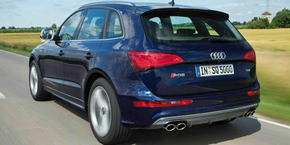 RASK: SQ5 kommer som standard med en åttetrinns tiptronic girkasse og er raskere enn en Porsche Boxster S fra 0-100. FOTO: Audi