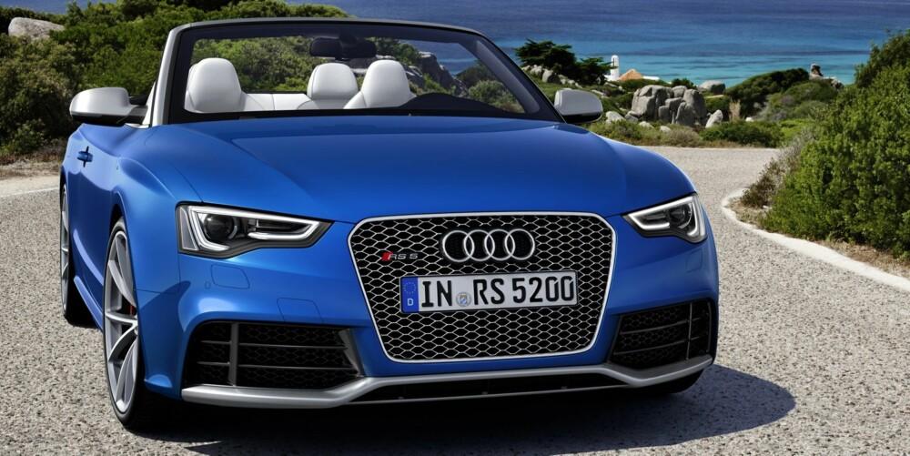 HOLDER: En Audi S5 byr egentlig på mer enn nok kraft, men vil man ha V8-er og ytterligere råskap, er RS5 svaret. FOTO: Audi