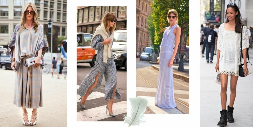 HIPPIE: Lange, flagrende kjoler gir deg med en gang den rette looken.